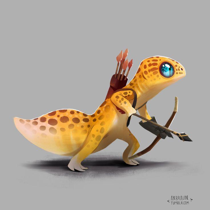 RPG Reptiles. Fun fantasy characters I've been... - alex braun