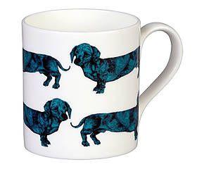 Mug porcelaine à la cendre d'os, turquoise et blanc - 275 ml 9€ - graduate collection