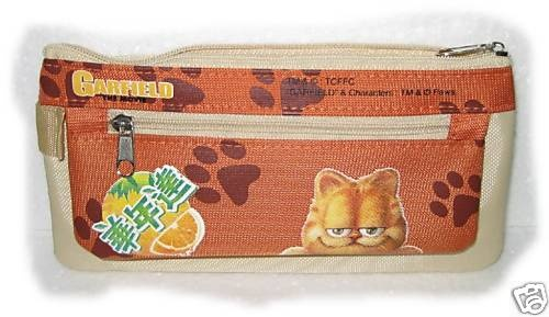 NEW ASIA GARFIELD THE MOVIE DOUBLE ZIPPER PENCIL BAG | eBay