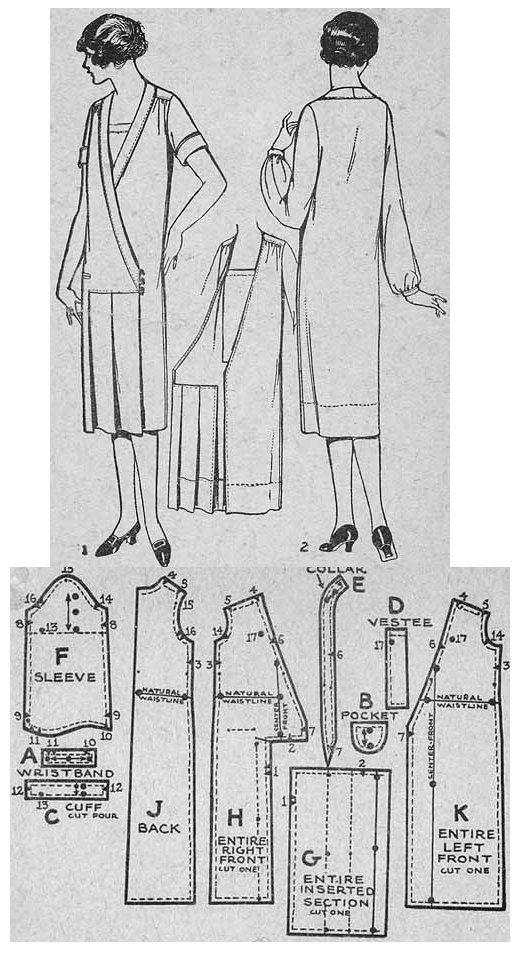 1925 Day Dress http://copa.apps.uri.edu/sample_garment.php?patID=55167