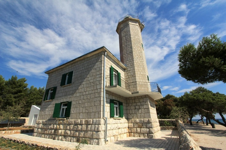 Lighthouse Lanterna reinvented as a luxurious vacation house on island Vir in the region of Dalmatia in Croatia. #lighthouse #dalmatia #croatia #kroatien #island vir #insel vir #vir