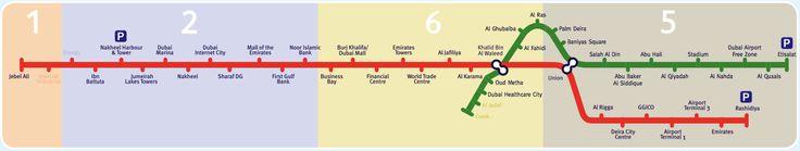 cool Dubai metro map