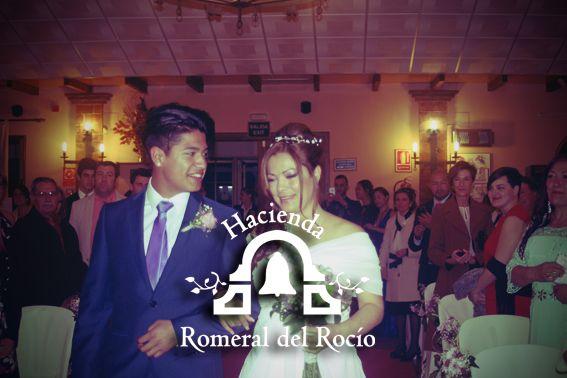 Novias de Hacienda Romeral del Rocío #salonesbodasmalaga