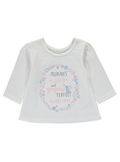 Mummy's Perfect Little One Top , read reviews and buy online at George at ASDA. Shop from our latest range in Baby. Show your little one how special they are...