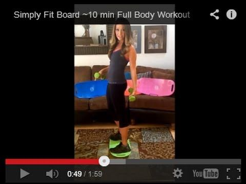 Simply Fit Board ~10 min Full Body Workout - YouTube