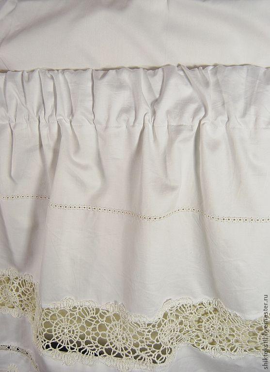 Купить Подзор-юбка для кровати с кружевом, мережкой.Подарок на свадьбу. - белый, подзор, подзор на кровать