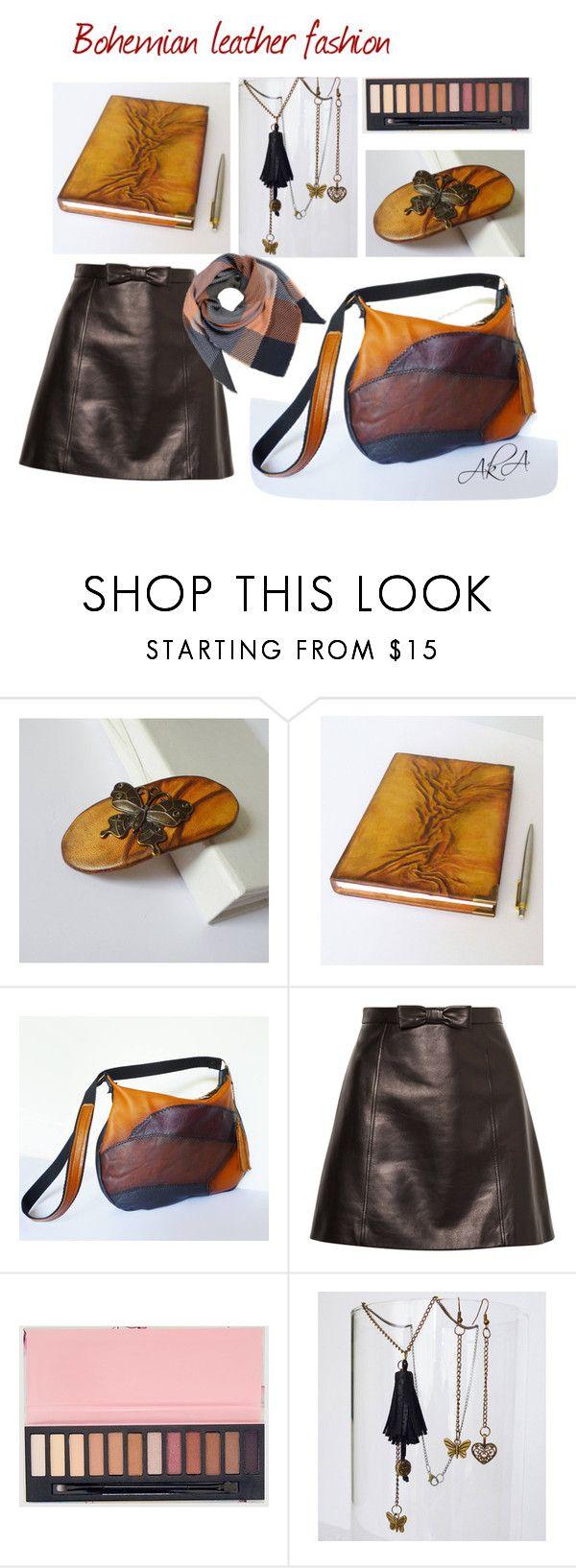 """Bohemian leather fashion"" by annakis on Polyvore featuring Miu Miu"