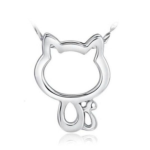Check out this item in my Etsy shop https://www.etsy.com/ca/listing/482511412/cat-silver-necklace
