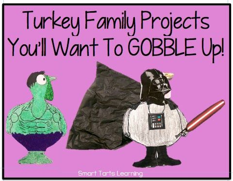 SAVE THE TURKEYS 2015!! {family project to disguise a turkey from being Thanksgiving dinner!} Smart Tarts Learning #Thanksgiving #Kindergarten #TurkeyProject