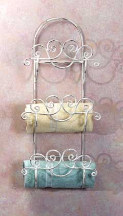 10 best images about wrought iron towel holders on - Wrought iron towel racks bathroom ...