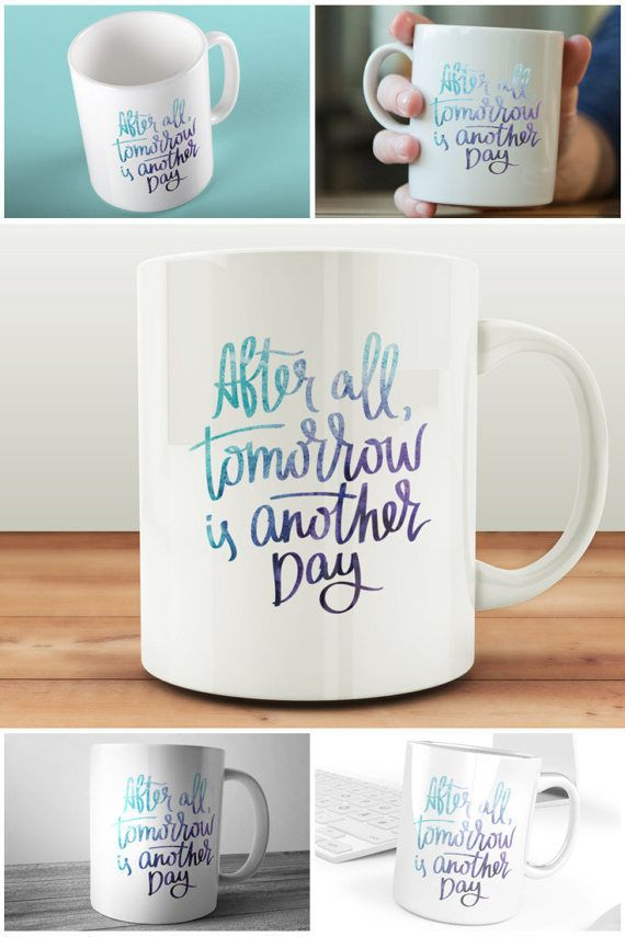A little motivation with your morning cuppa in this After All Tomorrow Is Another Day Quote Mug! https://www.etsy.com/uk/listing/502939728/after-all-tomorrow-is-another-day-quote #prandski #mugsuk