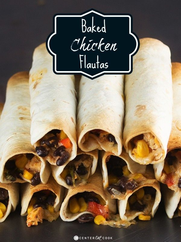 Baked Chicken Flautas Recipe ~ Perfect as an appetizer or a main dish!