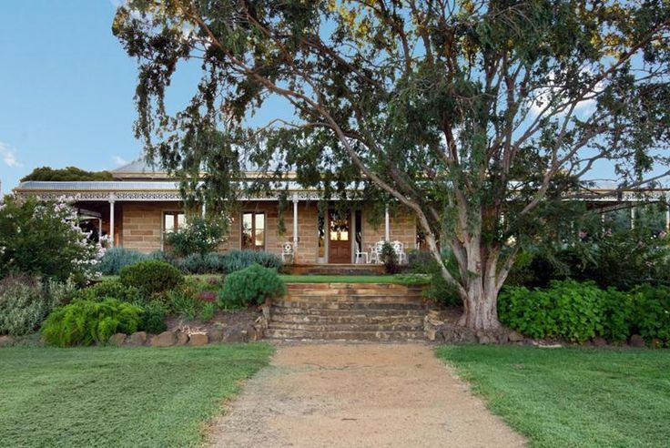 Beautiful eucalypt shading a traditional Australian homestead. Merriwa, NSW