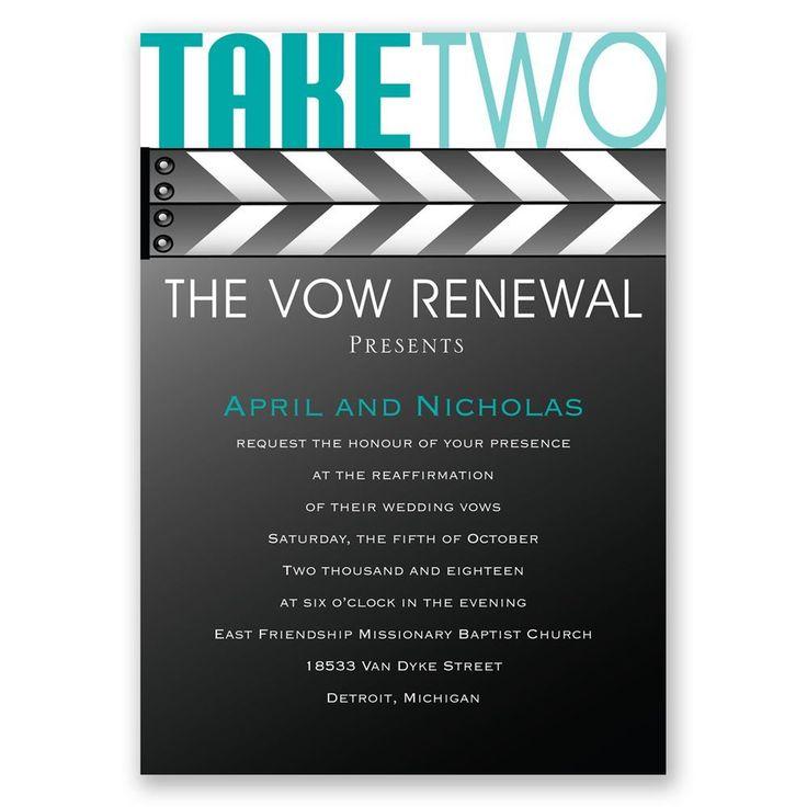 Take Two Vow Renewal Invitation 37