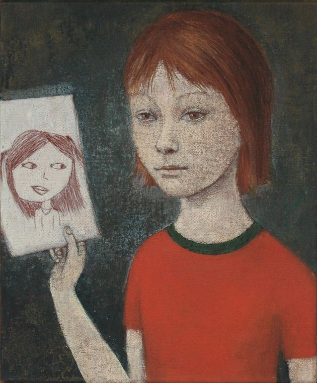 "Saatchi Online Artist: June Sira; Tempera, 2010, Painting ""I"""