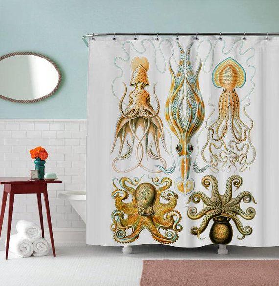 Rideau de douche Design Octopus Collage par PAKEMSABHARA sur Etsy