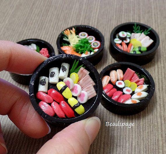 1:6 Scale Dollhouse Miniature Food, Japanese food, Sushi, Sashimi, Obento, Party, Doll, Fake food, Barbie, Blythe
