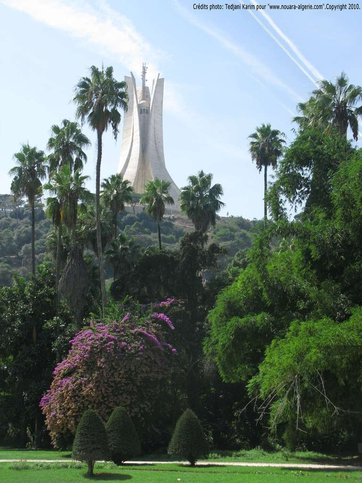 Makam Chahid Martyrs Monument Algiers View From Hama The Garden Algeria Pinterest