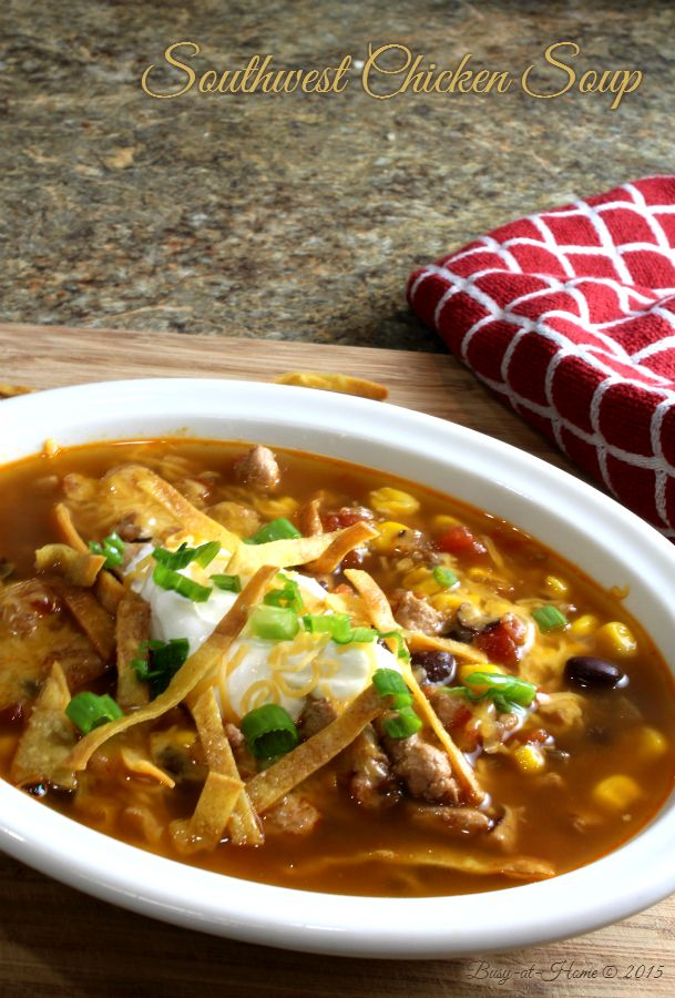 Southwest Chicken Soup recipe at Busy-at-Home