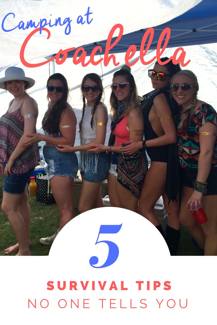 Read my 5 survival tips for camping at Coachella. Tips no one ever tells you.