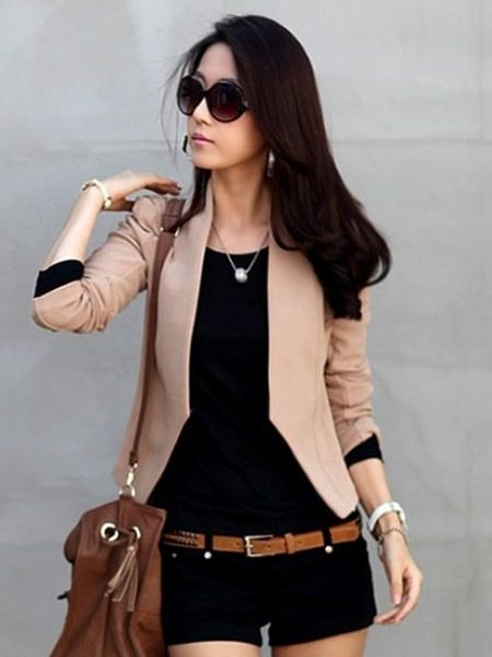 Coffee Korean Fashion Women Hot Sale Shrug Slim Suit Jacket S/M/L A2601co