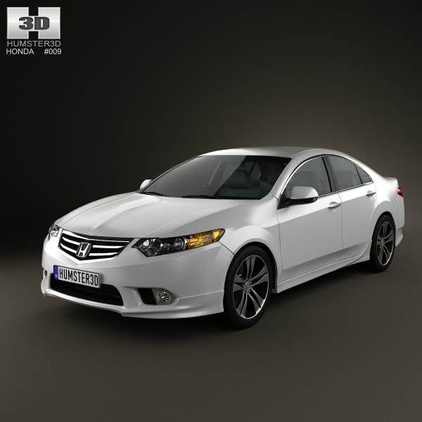 Honda Accord Sedan Type S 2011 3d model from humster3d.com. Price: $75