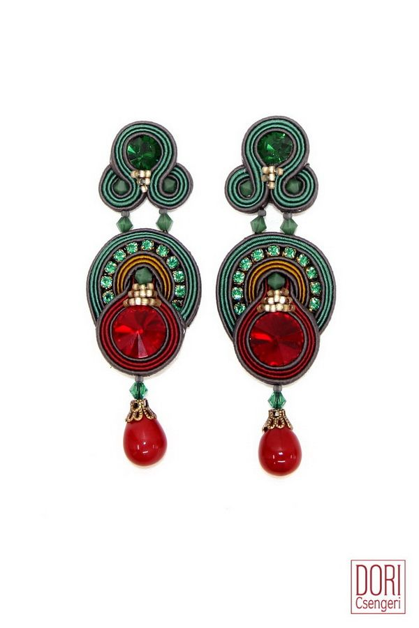 Temptation day to evening two tone earrings.  #DoriCsengeri #festive…