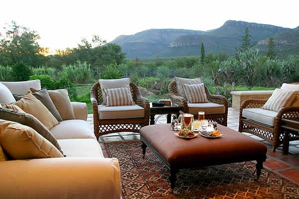 Verandah at Mount Camdeboo in the Karoo