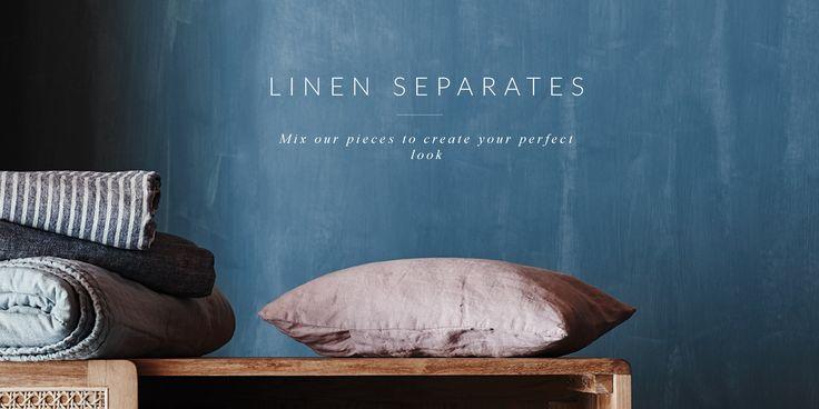 Buy online luxury 100% linen bedding, silk velvet cushions, throws and robes. Sheet Sets, Duvet covers, Bedlinen, Home Decor.