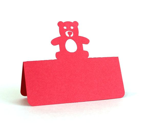 Teddy Bear Place Cards Set di 25 baby shower schede di Tiffzippy