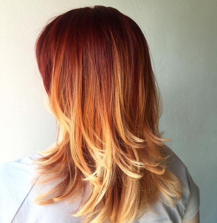red orange ombre hair wwwimgkidcom the image kid has it