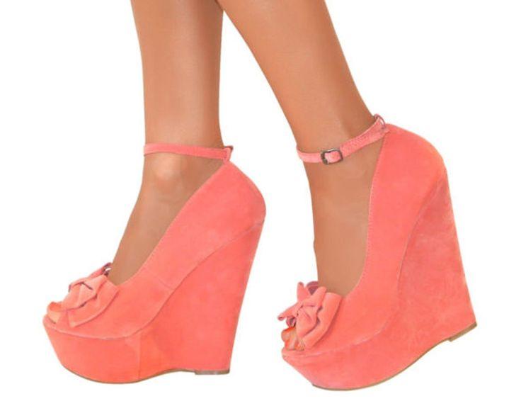 Escarpins à talon haut et plate-forme - bride/bout ouvert - chaussures de