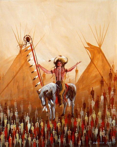 Buffalo Medicine Man by Eddy Cobiness