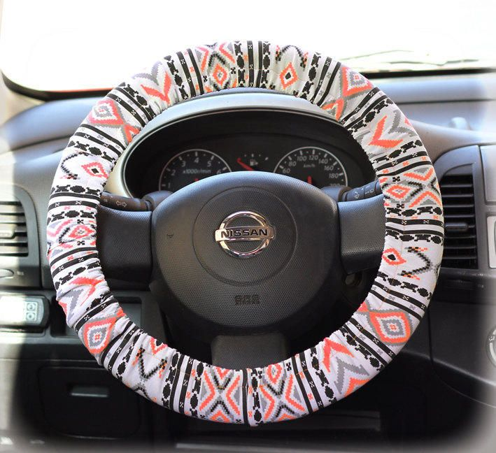 Steering Wheel Cover Bow Wheel Car Accessories Lilly Heated For Girls Interior Aztec Monogram Tribal Camo Cheetah from F.r046 on Etsy. Saved to Things I. #car #tribalprint #style #girl #fashion #thankmelater #driving #lucy.