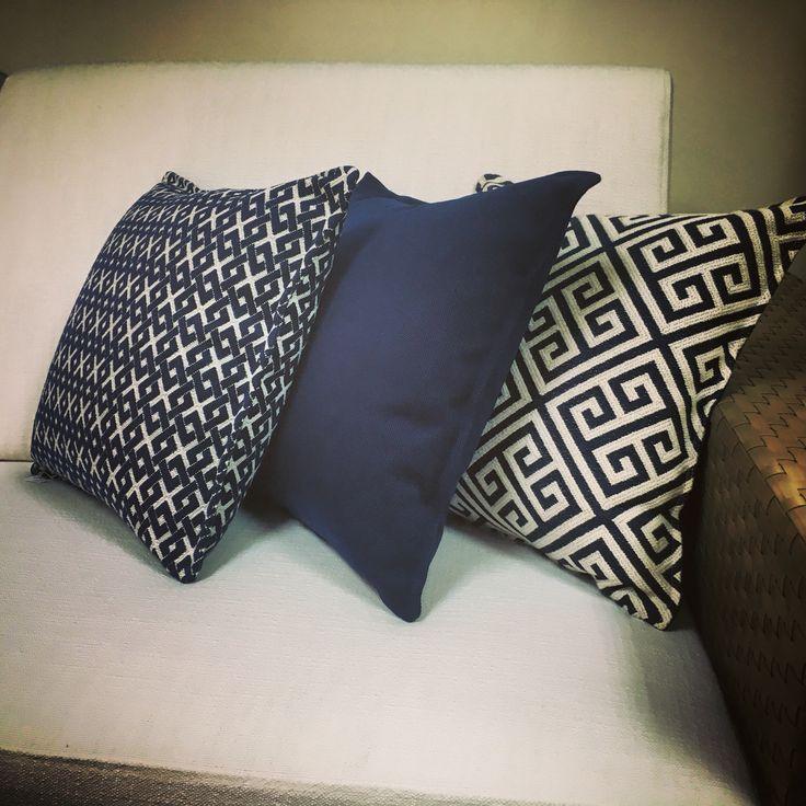 Tejidos de exterior de Saum! | Teixits d'exterior de Saum!  Foto: Dairin Interior Design @ San Pedro de Alcantara. #outdoor #costadelsol #cojines #coixins #dehors #ontario #fabrics