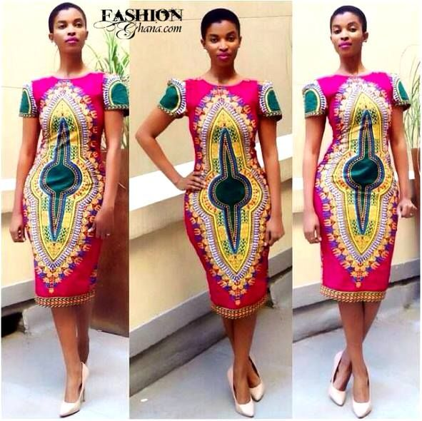 Fashion Ghana Magazine | Dashiki Dress | Angelina Print | African Fashion