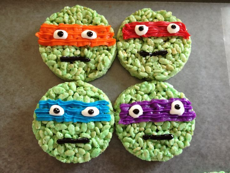 Ninja turtle Rice Krispie treats #coupon code nicesup123 gets 25% off at www.Provestra.com and www.leadingedgehealth.com