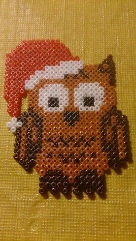 Christmas owl hama beads by Susanne Damgård Sørensen