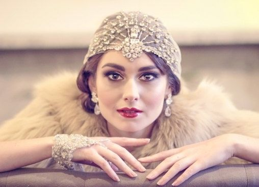 Vaudeville -  Art Deco Bohemian Crystal Headpiece