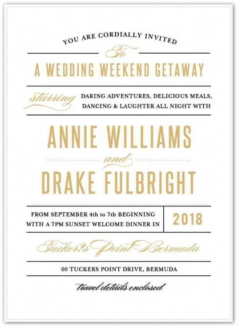 Destination Wedding Invitation Wording Etiquette And Examples