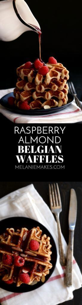 cool Raspberry Almond Belgian Waffles