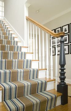 Casual Staircase Runner - traditional - staircase - other metro - Judy Cook Interiors, LLC