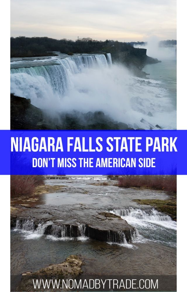 Don't miss a chance to visit Niagara Falls State Park on the American Side on your visit to Niagara Falls.