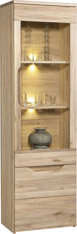 Selene Oak Display Cabinet