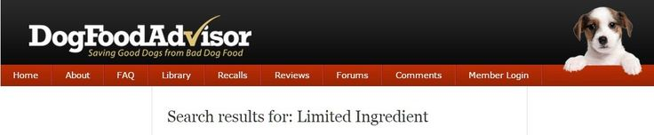 Limited Ingredient Dog Food (search results from dogfoodadvisor.com) - www.dogfoodadvisor.com