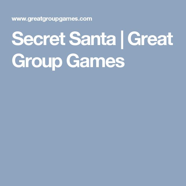 Secret Santa | Great Group Games