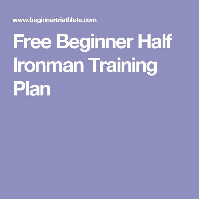 Free Beginner Half Ironman Training Plan