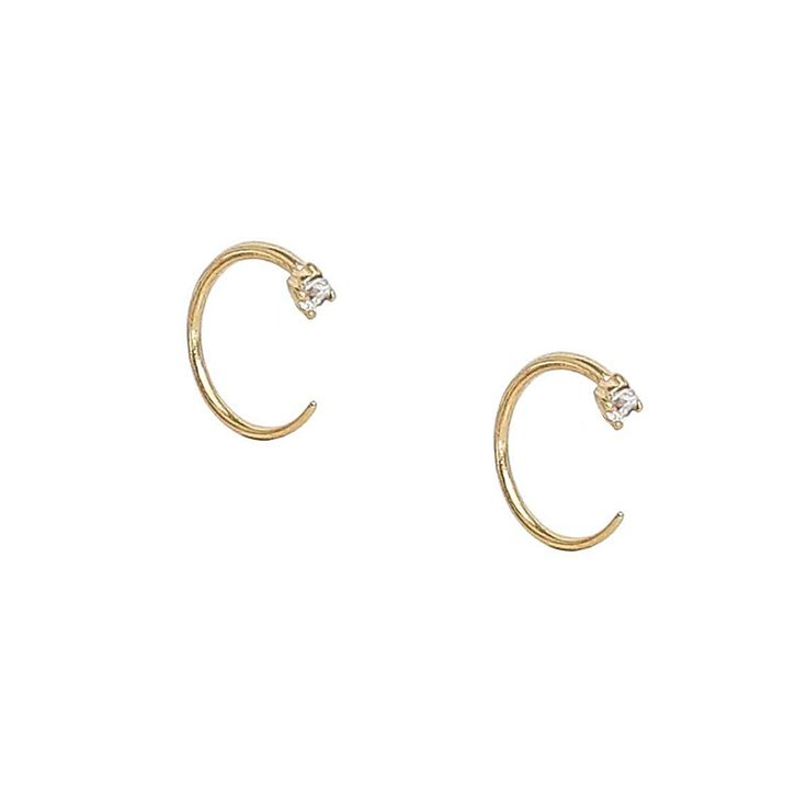 Maison Miru - Free shipping with code LABORDAYLOVE (September 1 to 4)What to buy: Crystal Huggie Earrings