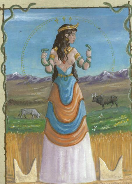 Cretan Great Goddess by echdhu on DeviantArt   Mycenaean ...