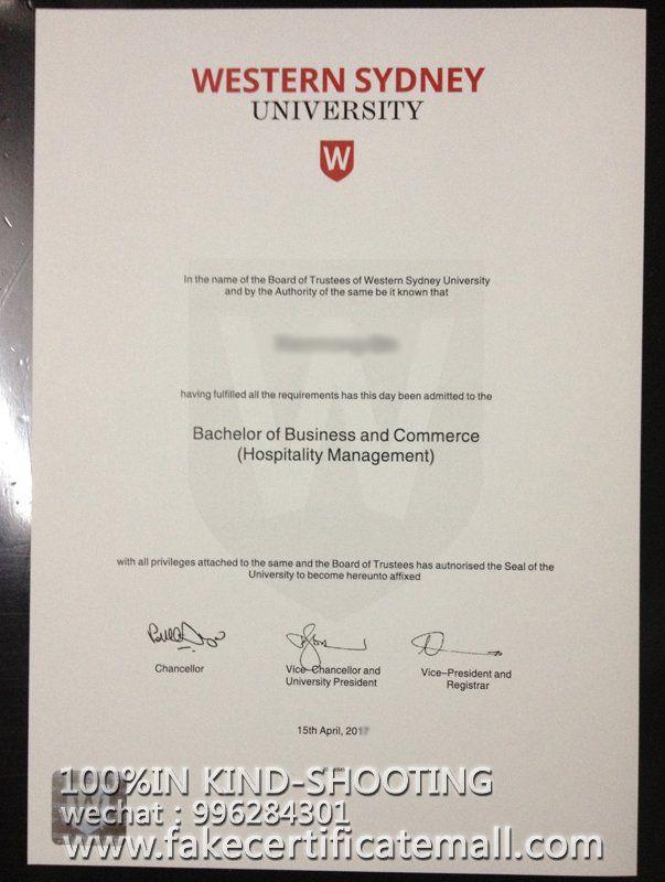 Buy degree University of Western Sydney certificate-Fake Diplomas
